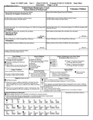 Creditor Matrix Form Fillable Bankruptcy Pdf Form Intercompuw5