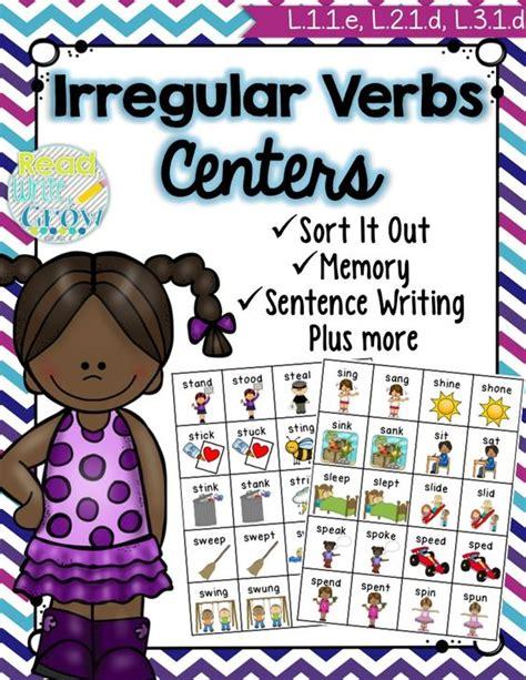 irregular past tense verb cards organized by pattern of change english language english and language on pinterest