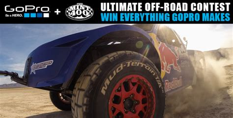 Gopro Everything We Make Daily Giveaway - the ultimate gopro off road contest race dezert com