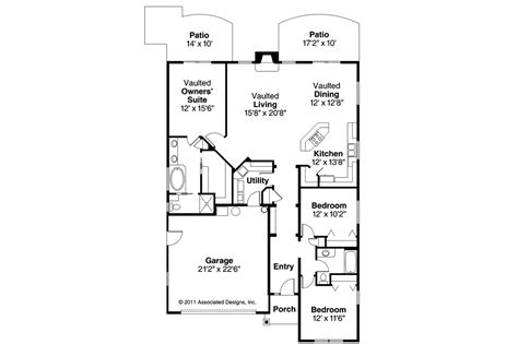 Craftsman Home Floor Plans by Craftsman House Plans Russellville 30 724 Associated