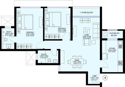 trillium floor plan sea gundecha trillium in kandivali east mumbai price