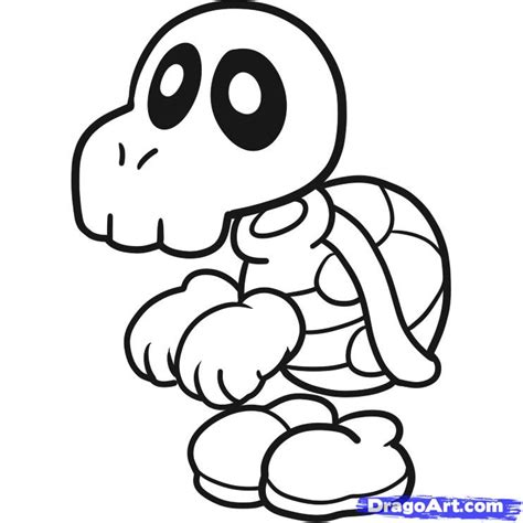 mario head coloring page how to draw dry bones step by step video game characters