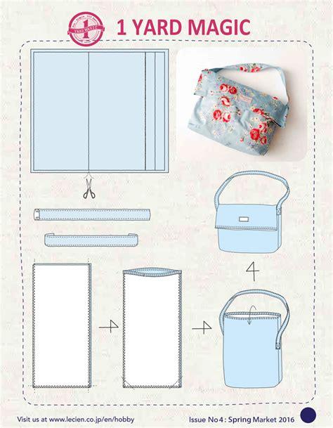 pattern making pdf free download 1 yard magic messenger bag from lecien fabrics free