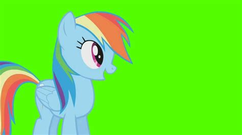 Rainbow Green rainbow dash stand green screen ponies