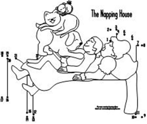 napping house coloring page 100 day activities all about me
