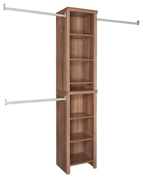 home depot closets organizers closetmaid closet organization impressions 16 in walnut