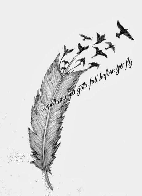 flying birds tattoo meaning birds flying from feather meaning