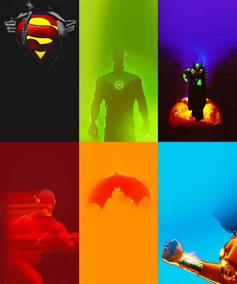color of justice justice league in colors justice league