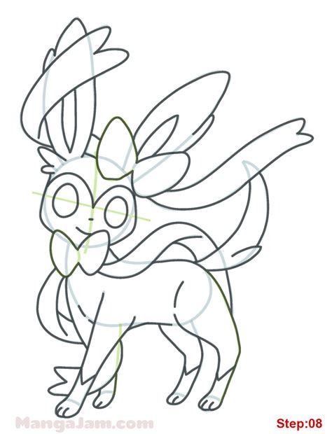 pokemon coloring pages eevee evolutions sylveon how to draw sylveon from pokemon mangajam com