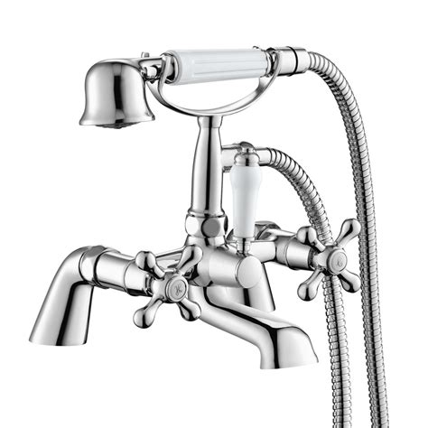 Bath Taps With Shower Head traditional bath filler tap hand held shower head