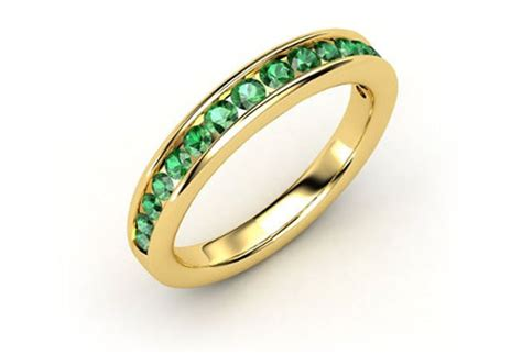 colored wedding bands why to choose topaz ruby and emerald wedding rings