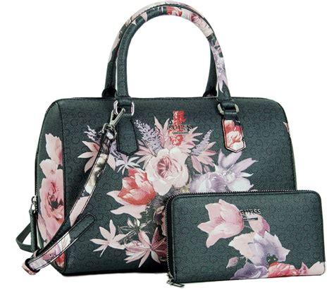 Wallet Bag Flower Walletbag Flower guess ashville floral box satchel handbag tote bag purse wallet set ebay