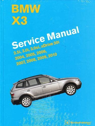 service manual car repair manual download 2010 bmw x3 spare parts catalogs repair manual