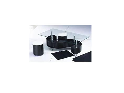 Glass Coffee Table With Stools Shaped Black High Gloss Glass Coffee Table 2 Stools Homegenies