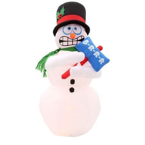 home accents holiday 6 ft h inflatable animated shivering