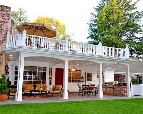 deck designs for 2 story house two story deck additions home design ideas pictures remodel and decor