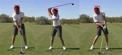 golf driving swing head movements in the full golf