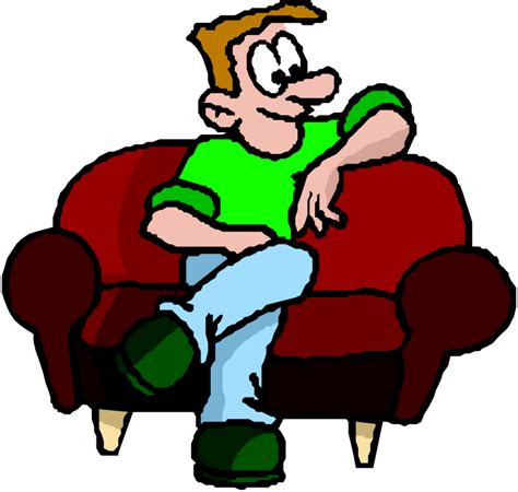 cartoon sitting on couch person sitting down clipart 37