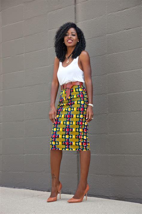 pencil skirt and blouse ankara style