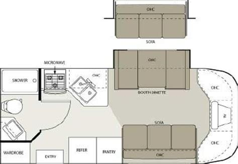 four winds rv floor plans 2006 four winds siesta 23ba floorplan
