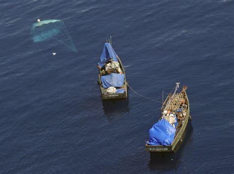 north korean fishing boat japan north korean boats drifting off japan likely to hit record