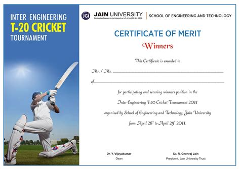 cricket certificate templates shoelace designs certificate design