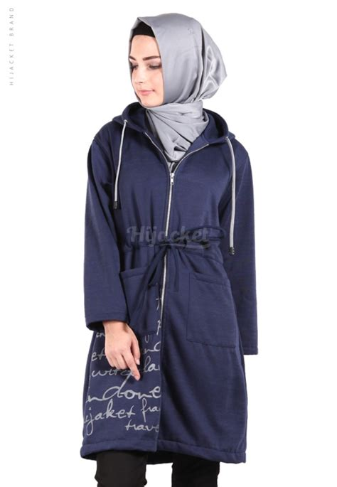 Hijacket Beautix Jacket Wanita jaket hijaber urbanashion royal blue hijacket jaket muslimah distro beda
