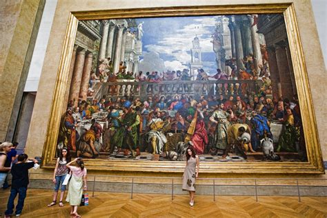 Wedding At Cana Painting In The Louvre by The Wedding At Cana The Largest Painting In The Louvre P