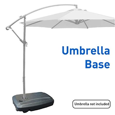 Fill L Base by Easygoproducts Universal Offset Umbrella Base Weight Capacity Plastic Weighted Stand Fill