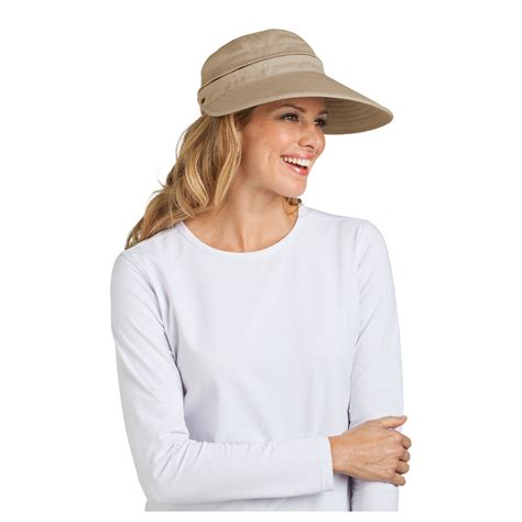 top protective sun visors ebay coolibar upf 50 women s zip off sun visor sun protective ebay
