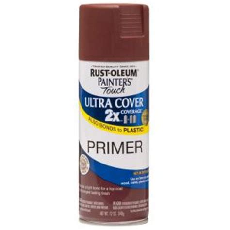 rust oleum painter s touch 2x 12 oz flat primer general purpose spray paint 249086 the