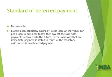 What Is Deferred Mba by Money And Finance Management Chapter 1