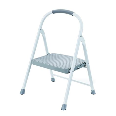 One Step Step Stool With Handle by Step Stools Ladders The Home Depot
