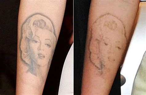 megan fox tattoo removal before and after megan fox newly faded marilyn