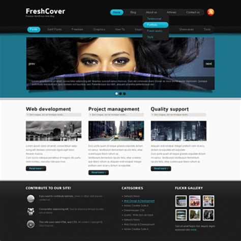 freshcover wordpress template wp personal creative