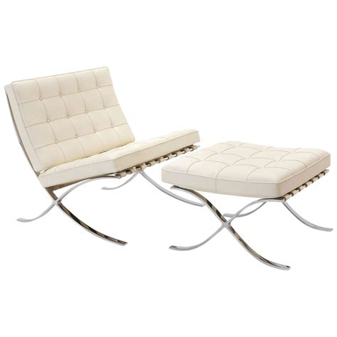 barcelona chair and ottoman signed mies van der rohe barcelona chair and ottoman for