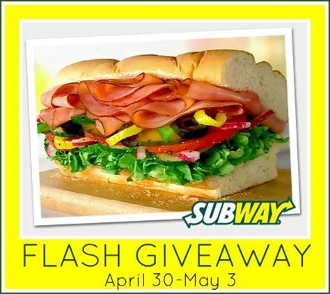 Subway Gift Card Giveaway - subway gift card flash giveaway