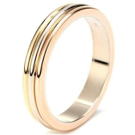 cartier trinity wedding band 18k three gold ring b4052266 32 off retail