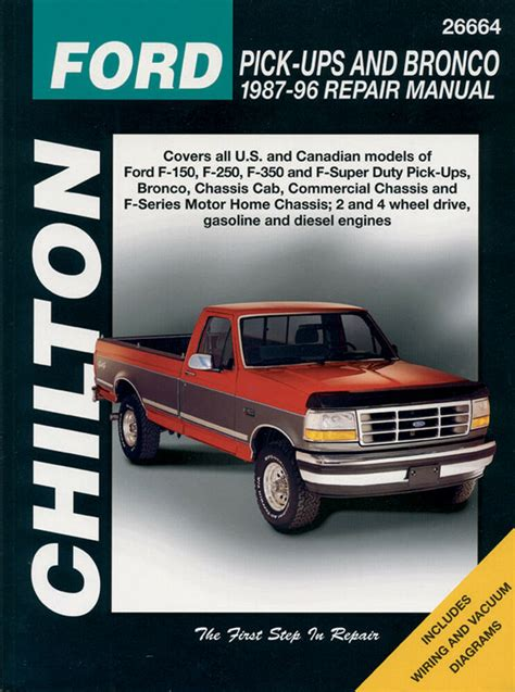 chilton books  repair manual ford    super duty bronco   ebay