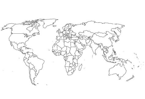 World Map Coloring Page Coloring Book