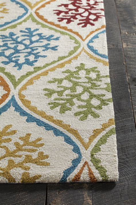 Yellow And Blue Outdoor Rug Terra Collection Tufted Area Rug In Blue Green Des Burke Decor