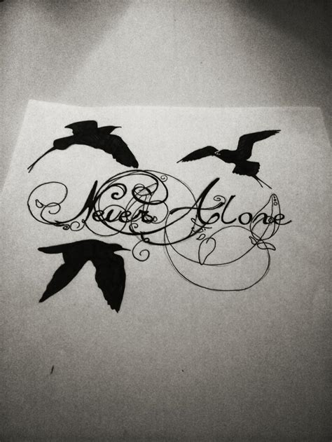 Tattoo Design Birds, Never Alone by ChantalvLoenen on ...