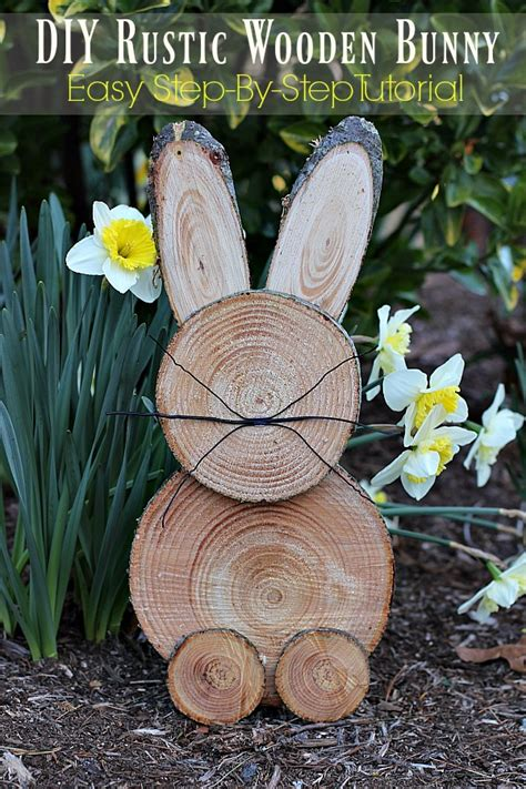 diy lawn decorations wood diy rustic wooden bunny a step by step tutorial the