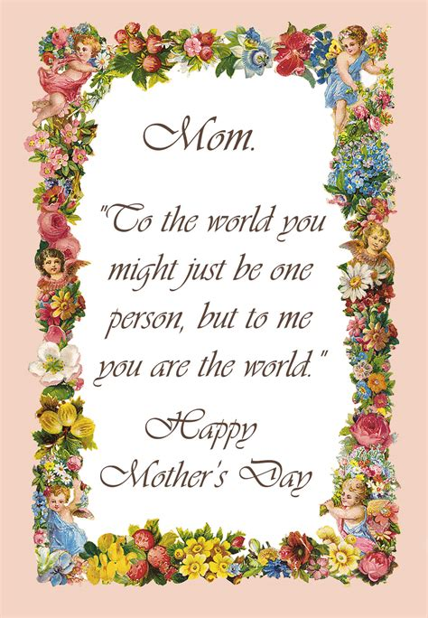 Mothers Day Poems Cards best mothers day poems greetings sayings for cards