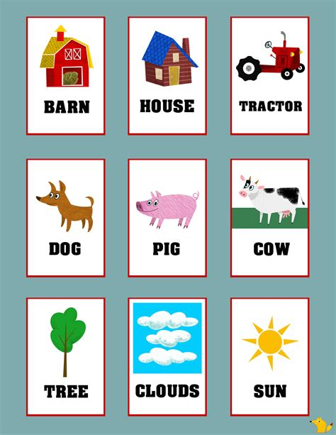 printable flash cards toddlers flashcards for toddlers to teach simple words flashcards