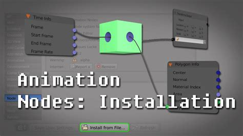 blender tutorial addon tutorial i introduction to the animation nodes addon in