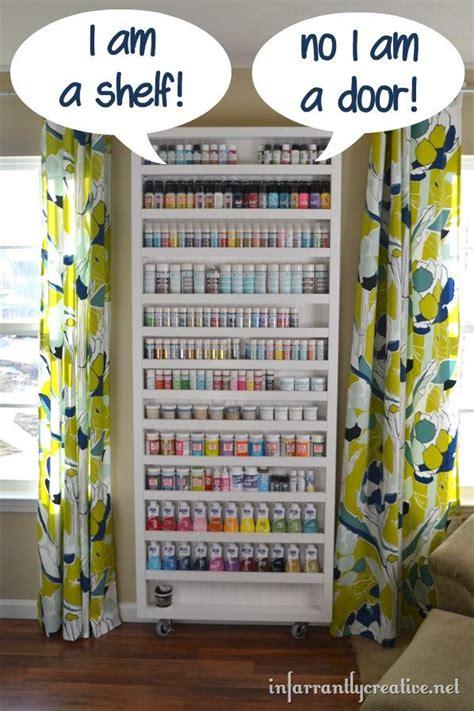 diy room storage ideas paint shelf with door door storage ironing boards and storage