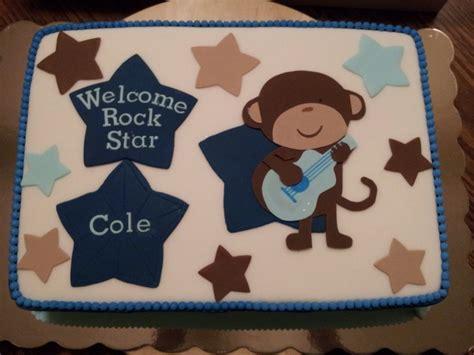 rockstar monkey baby shower monkey rockstar baby shower cake cakecentral