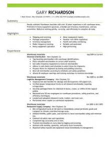 Warehouse Resume Objectives   Template Design