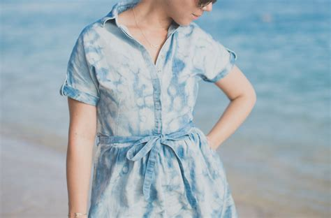 Fashion Celline Jelly M3777 06 blue hilfiger denim dress